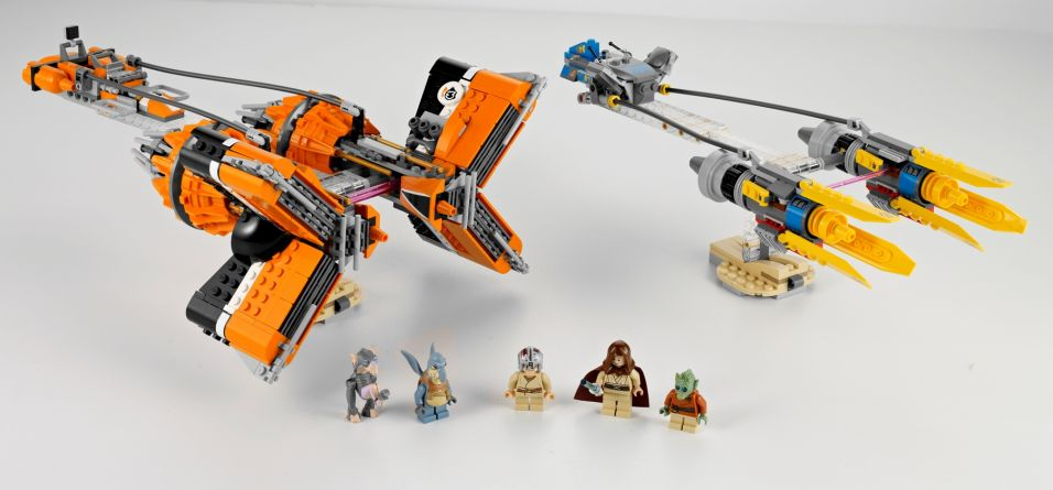 "Os ""Podracers"" de Anakin Skywalker e de Sebulba: brinquedos de montar ... Anakin"
