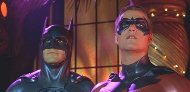 George Clooney e Chris O'Donnell interpretam a dupla de heróis ''Batman e Robin''