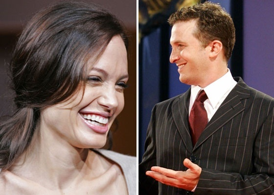 Na montagem acima, a atriz Angelina Jolie e o diretor Darren Aronofsky