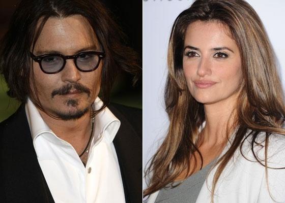Os atores Johnny Depp e Penélope Cruz, que devem contracenar no quarto filme da saga ''Piratas do Caribe''