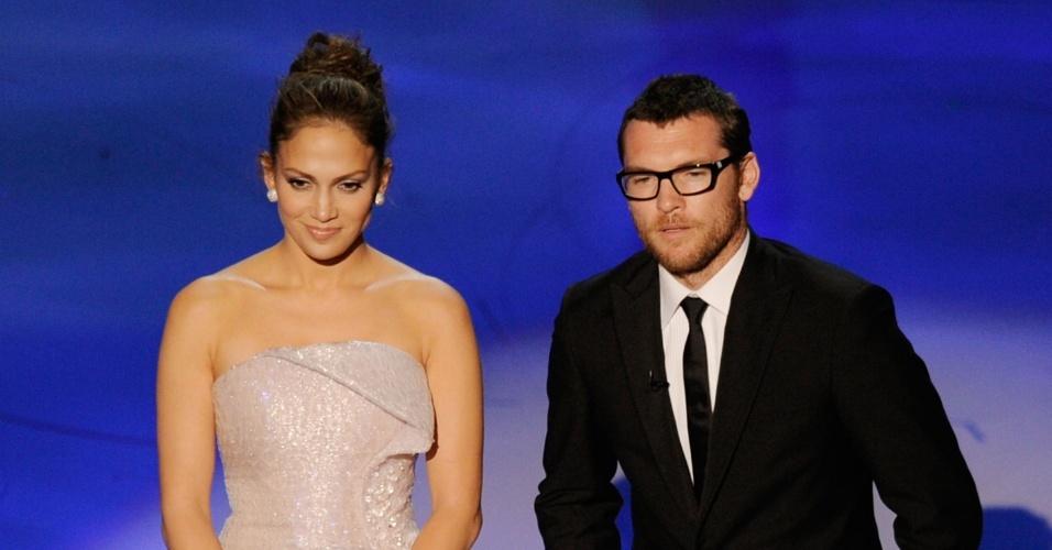 Jennifer Lopez e Sam Worthington apresentam uma categoria na 82ª cerimônia de entrega dos prêmios Oscar (07/03/21010)