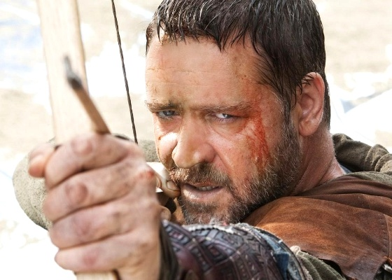 Russell Crowe no papel de Robin Hood, no filme de Ridley Scott