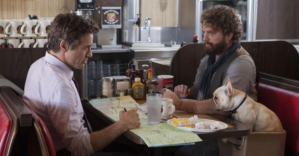 Do diretor Todd Phillips, ''Um Parto de Viagem'' é estrelado por Robert Downey Jr. e Zach Galifianakis (foto)