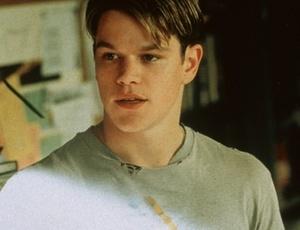 O astro Matt Damon dá vida a Will Hunting em ''Gênio Indomável'' (1997)