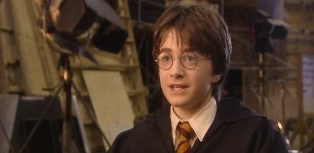 Daniel Radcliffe na época do primeiro filme da saga Harry Potter