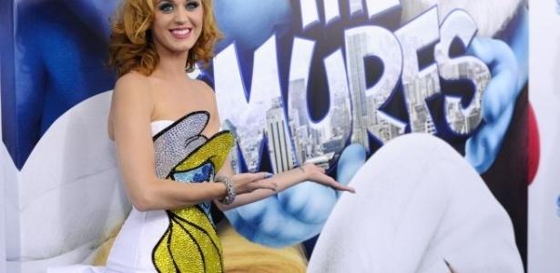 Cantora Katy Perry na pré-estreia de