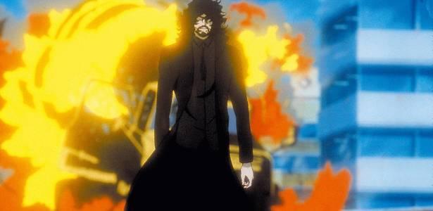 Cena de Cowboy Bebop, animação de Shinichiro Watanabe
