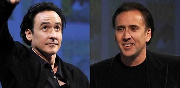 Os atores John Cusack (esq.) e Nicolas Cage (dir.)
