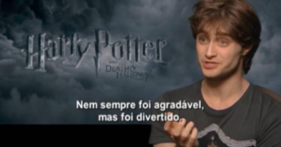 Daniel Radcliffe durante entrevista sobre o último
