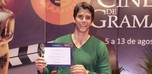 Márcio Garcia recebe homenagem no Festival de Gramado (12/8/11)
