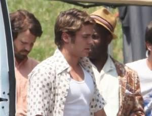Zac Efron grava cenas do filme