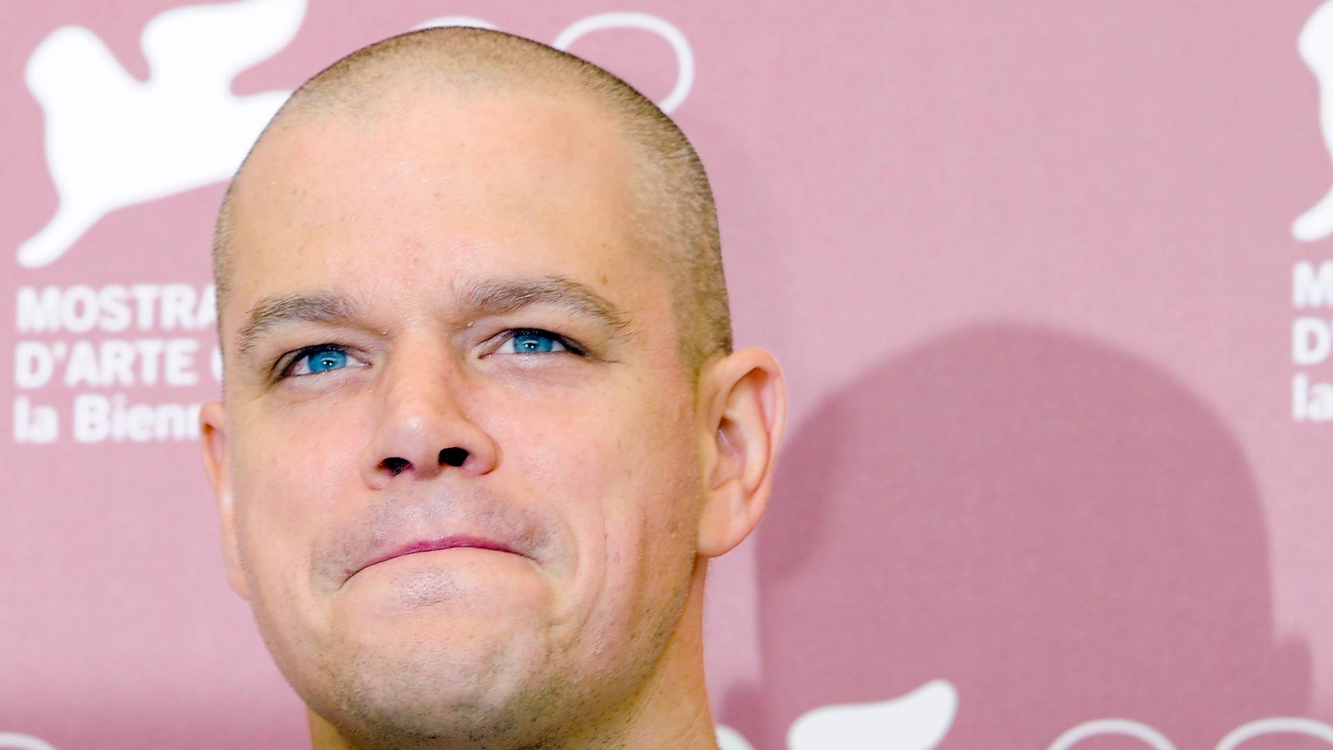 O ator Matt Damon posa para fotos durante a divulgao de 