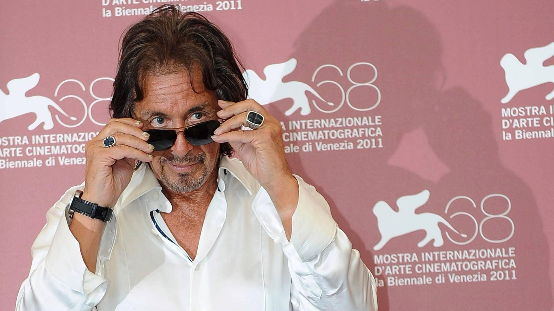 Al Pacino chega ao Festival Internacional de Cinema de Veneza para receber premiação pelo conjunto de sua obra (4/9/11)