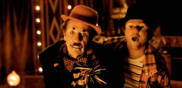 Paulo José e Selton Mello em cena do filme ''O Palhaço''