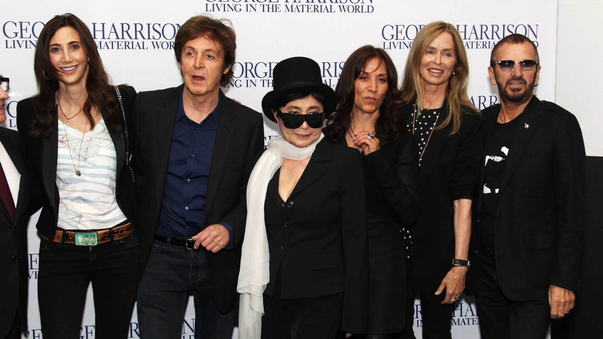 Nancy Shevell, Sir Paul McCartney, Yoko Ono, Olivia Williams, Barbara Bach e Ringo Starr na première de