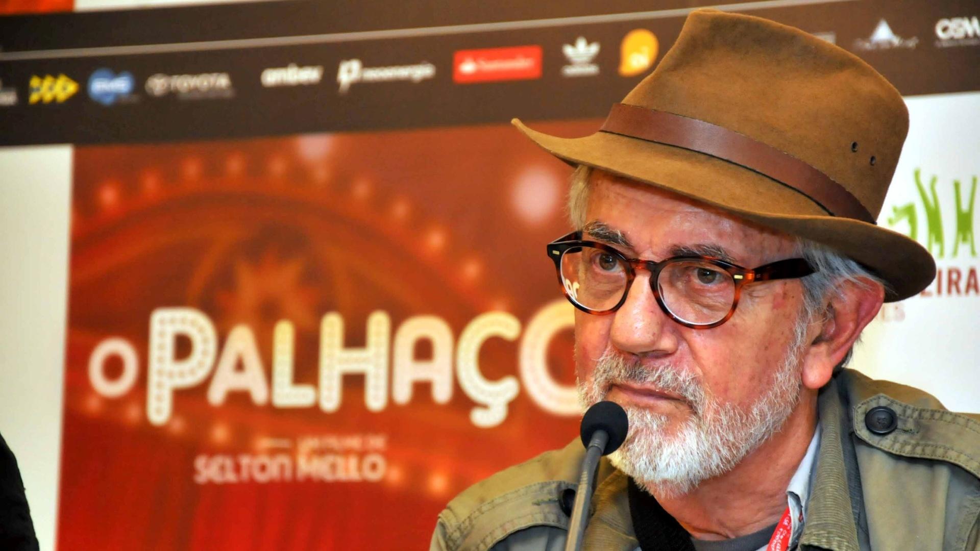 O ator Paulo José participa da coletiva de imprensa do filme
