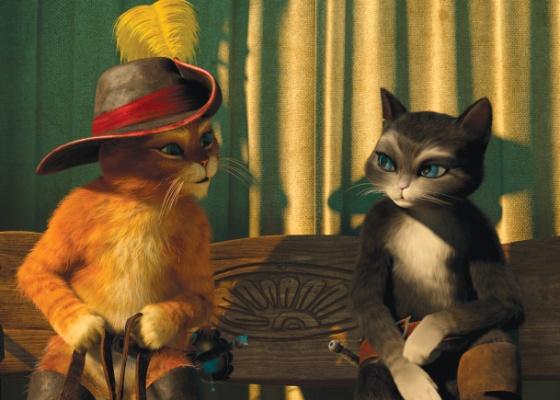 Cena da anima��o Gato de Botas