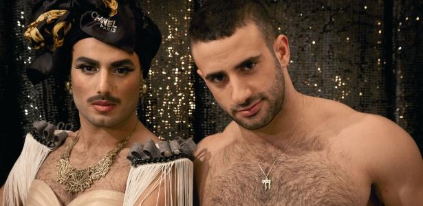 A dupla israelense Uriel Yekutiel e Eliad Cohen que faz performances na festa gay Arisa