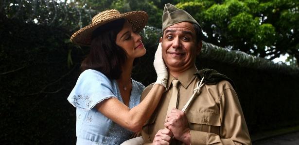 Luana Piovani e Hubert em cena de As Aventuras de Agamenon, o Rep�rter, de Victor Lopes
