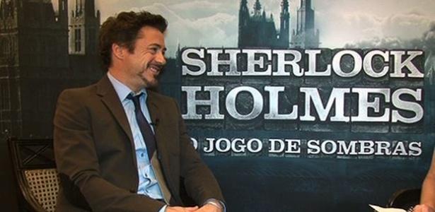 Cena da entrevista em vídeo com Robert Downey Jr.