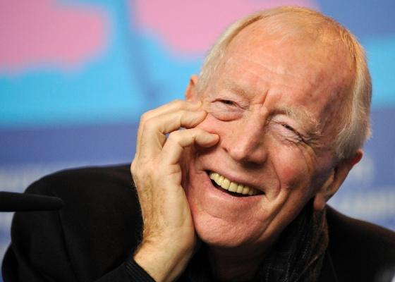 O ator Max von Sydow participa de coletiva de imprensa para promover T�o Alto, T�o Perto no Festival de Cinema de Berlim (10/2/2012)