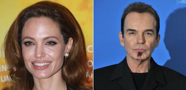 Angelina Jolie e o diretor Billy Bob Thornton durante o Festival de Berlim (13/2/12)
