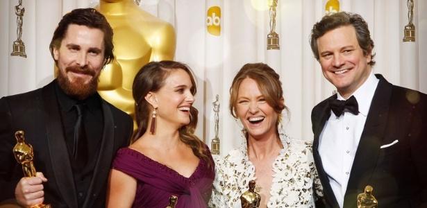 Christian Bale, Natalie Portman, Melissa Leo e Colin Firth foram confirmados como apresentadores do Oscar 2012