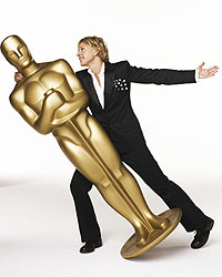 Ellen DeGeneres, a mestre da 79ª cerimônia de entrega do Oscar