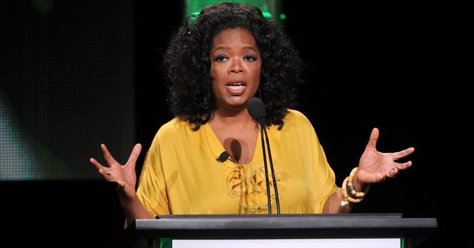 A apresentadora Oprah Winfrey