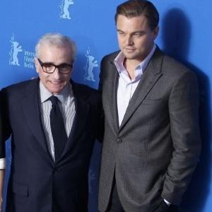 Michelle Williams, Martin Scorsese e Leonardo DiCaprio se reúnem para divulgação de ''Ilha do Medo'', em Berlim
