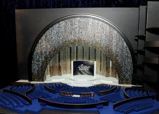 Modelo do cenário do 82º Oscar, cuja cerimônia acontece no Kodak Theather, em Los Angeles