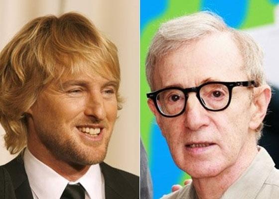 O ator Owen Wilson (esquerda) participa de novo filme de Woody Allen