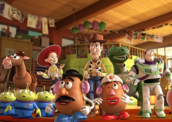 Personagens do filme ''Toy Story 3 - 3D, da Pixar