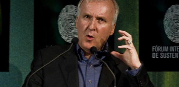 James Cameron em Manaus em 2010, durante o Fórum Internacional sobre Sustentabilidade da Amazônia