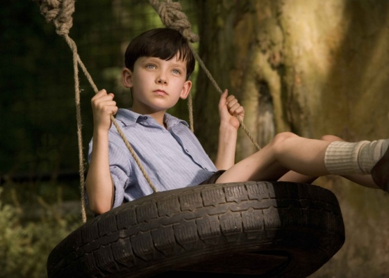 O ator britânico Asa Butterfield em cena do filme O Menino do Pijama Listrado (2008)