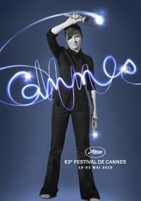 Cartaz oficial do Festival de Cannes 2010, com Juliette Binoche