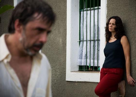 A atriz Vanessa Gerbelli é vista nas filmagens de ''As Mães de Chico Xavier''