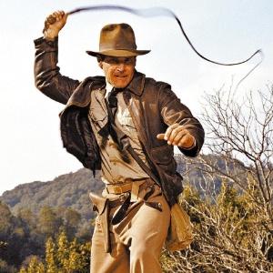 O ator Harrison Ford em cena do filme Indiana Jones - E Os Caçadores da Arca Perdida de 1981