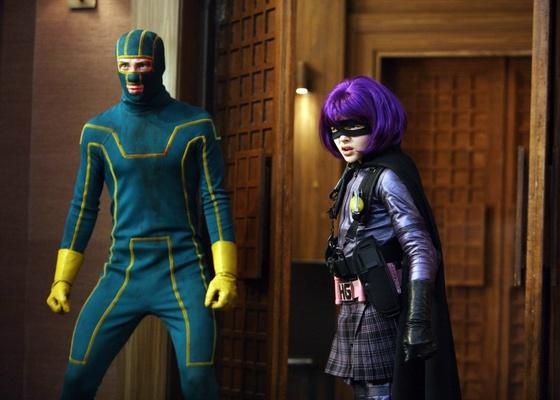 Os atores Aaron Johnson e Chloe Moretz em cena do filme ''Kick-Ass - Quebrando Tudo''