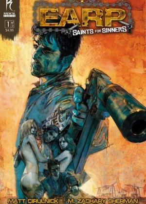 Capa da graphic novel Saints for Sinners, projeto futuro do diretor Sam Raimi