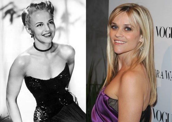 A vida de Peggy Lee (à esq) será retratada no cinema por Reese Witherspoon (à dir)