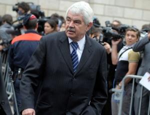 Pasqual Maragall, ex-premiê da Catalunha, no funeral do ex-presidente do COI, Juan Antonio Samaranch (22/04/2010)