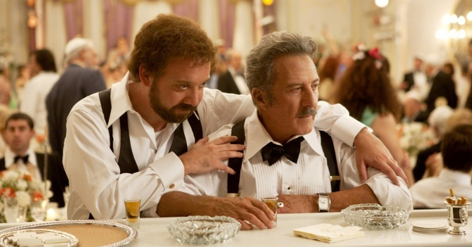 Paul Giamatti e Dustin Hoffman interpretam filho e pai em ''Barney's Version''