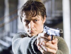 O ator James McAvoy no filme O Procurado