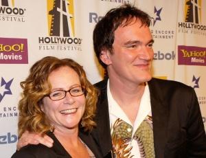 Sally Menke e Quentin Tarantino no Hollywood Film Festival, em 2004