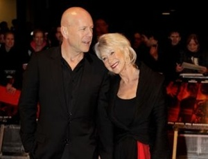 Bruce Willis e Helen Mirren participam da première do filme ''Red'' no Festival de Londres (19/10/2010)
