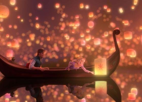 Cena da animação da Disney ''Enrolados''
