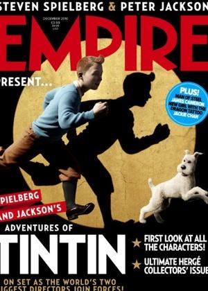 Capa de revista norte-americana mostra imagem do filme do Tintin, dirigido por Steven Spielberg