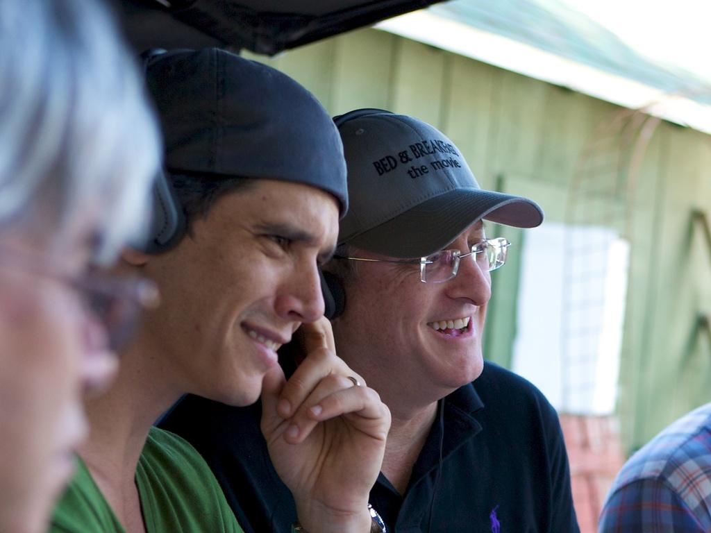 Marcio Garcia e Uri Singer nas filmagens de