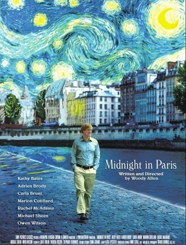 Pôster do filme ''Midnight in Paris'', de Woody Allen